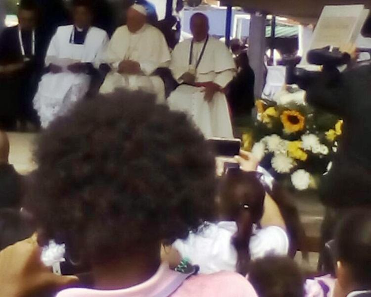 visitando Virgen consolador en Cartagena
